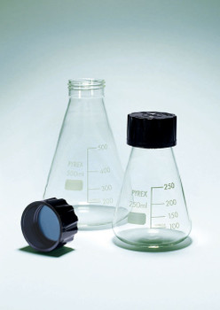 PYREX Erlenmeyer Flask with Screw Cap, 100ml
