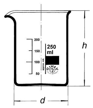 SIMAX Heatproof Glass Beakers, Low Form, 400ml (Pack of 2)