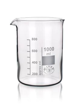 SIMAX Heatproof Glass Beakers, Low Form, 800ml (Pack of 2)