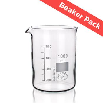 SIMAX® Heatproof Glass Beaker Pack, Low Form (Pack of 6 Sizes)