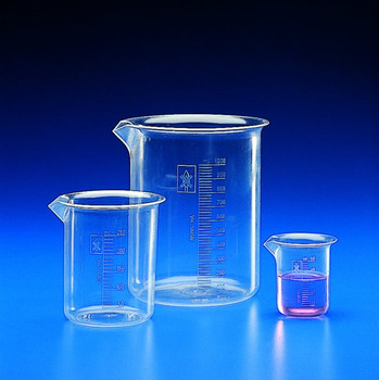 Graduated Low Form TPX Beakers, 250ml (Pack of 2)