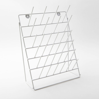 Glassware Draining Rack, Free Standing, Coated Steel
