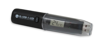 USB Temperature Data Logger, LCD Screen, -35°C to +80°C, EL-USB-1-LCD