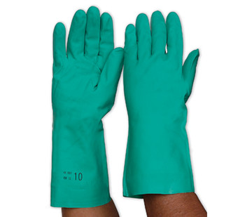 Nitrile Chemguard Chemical Safety Gloves, Size XXL