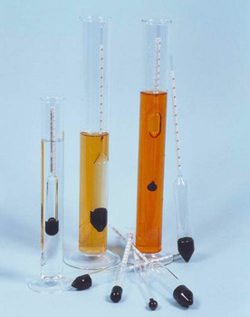 Specific Gravity Hydrometer 1.000-1.050 L50 x 0.0005 ± 0.0005 @ 15.6°C, 335mm long ISO650