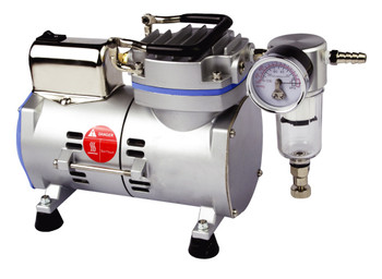 Laboratory Vacuum Pump, Oil Free, 17 Litres/Min (With 1m Silicone Vacuum Tubing)