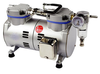 Laboratory Vacuum Pump, Oil Free, 68 Litres/Min (With 1m Silicone Vacuum Tubing)