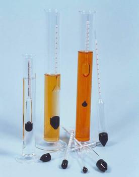 Density Hydrometer 1.500-1.600 M100 x 0.002g/ml ± 0.002 @ 20°C 250mm long BS718, ISO649