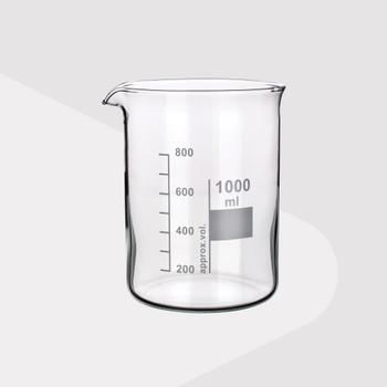 Borosilicate Glass Beakers, Low Form, 400ml (Pack of 2)