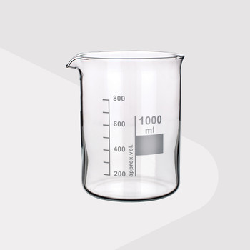 Borosilicate Glass Beakers, Low Form, 600ml (Pack of 2)