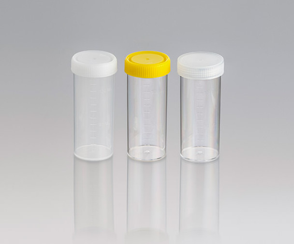 Screw Cap Containers, Unlabelled, Sterile with Yellow Cap, 120ml (Carton of 264)