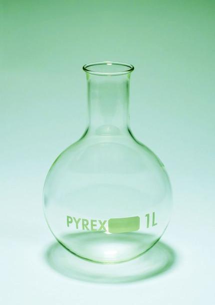 PYREX Glass Round Bottom Boiling Flask, 1000ml