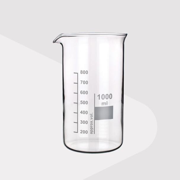 Borosilicate Glass Beaker, Tall Form, 100ml (Pack of 2)