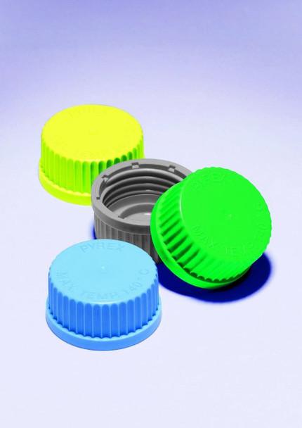 PYREX Spare Screw Cap Lids, Yellow Polypropylene, GL45 (Pack of 4)