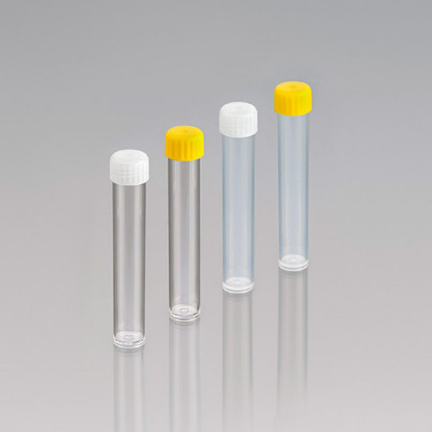 Screw Cap Polypropylene Test Tubes, Unlabelled, Sterile with Yellow Cap, 10ml
