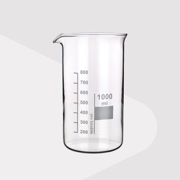 Borosilicate Glass Beaker, Tall Form, 600ml (Pack of 2)
