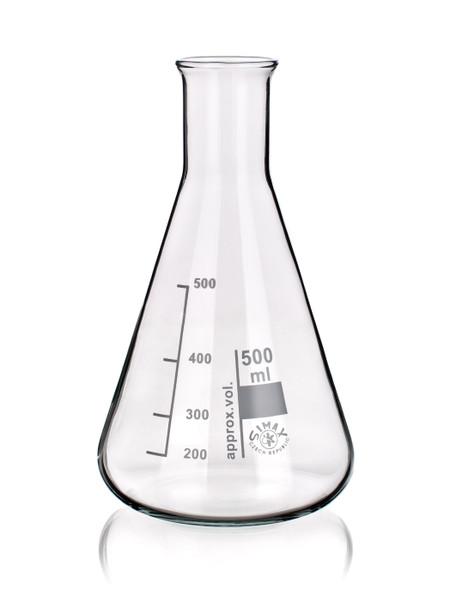 SIMAX Heatproof Glass Erlenmeyer Flask, Narrow Neck