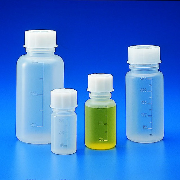 Graduated Wide Neck bottles, Polypropylene, 500ml (Pack of 2)