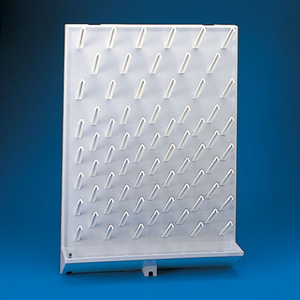 Glassware Draining Rack, Wall Mounted High Impact Polystyrene, 72 Place Pegs