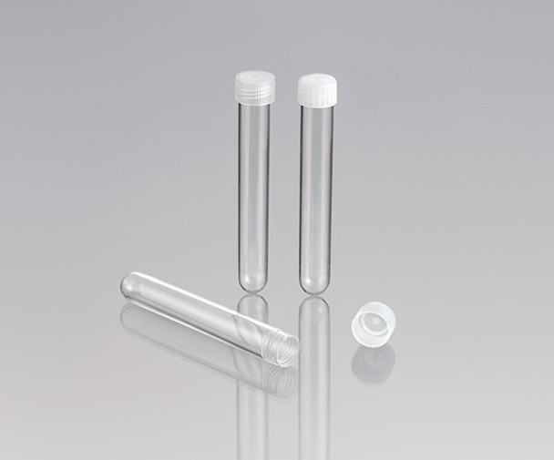 Screw Cap Test Tubes, Polycarbonate, Round Bottom, 15ml (Pack of 250)