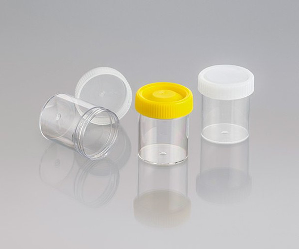 Screw Cap Container, Labelled, Sterile with Yellow Cap, 70ml (Carton of 550)