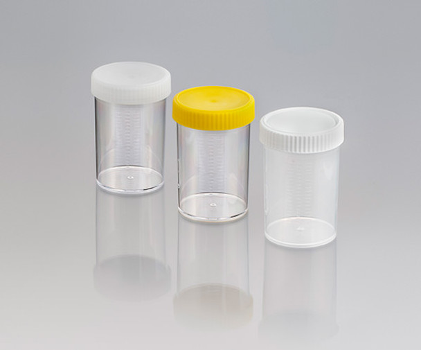 Screw Cap Container, Labelled, Sterile with Yellow Cap, 250ml (Carton of 147)