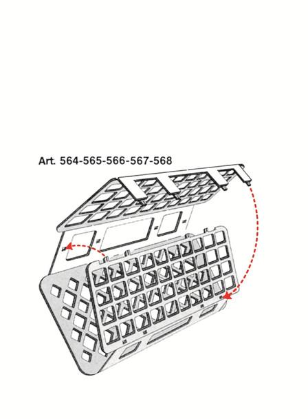 Universal Test Tube Rack, Autoclavable, 25mm holes