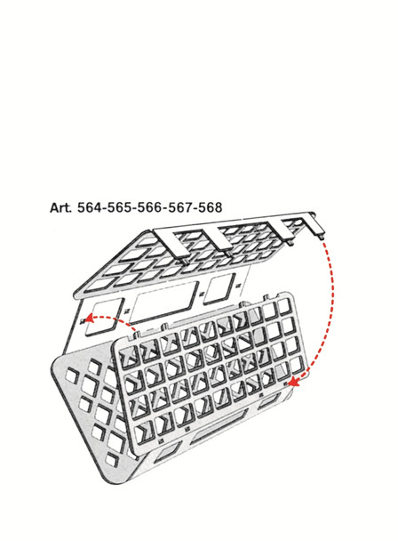 Universal Test Tube Rack, Autoclavable, 30mm holes (50ml tubes)