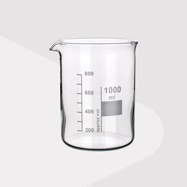 Borosilicate Glass Beakers, Low Form, 100ml (Pack of 2)