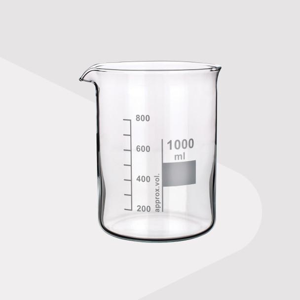 Borosilicate Glass Beakers, Low Form, 1000ml