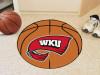 """Western Kentucky Basketball Mat 27"""" diameter"""