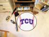 """TCU Baseball Mat 27"""" diameter"""