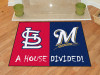 "MLB - Cardinals - Brewers Divided Rug 33.75""x42.5"""