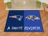 "NFL Patriots - Ravens House Divided Rug 33.75""x42.5"""