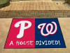 "MLB - Phillies - Nationals House Divided Rug 33.75""x42.5"""