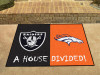 "NFL - Raiders - Broncos House Divided Rug 33.75""x42.5"""