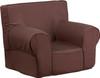 Brown Fabric kids' chair DG-CH-KID-SOLID-BRN-GG