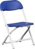 Blue, White folding chair Y-KID-BL-GG