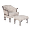 Guildmaster 653515S Wing Chair And Ottoman