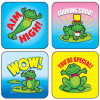 Carson Dellosa CD-0617 Stickers Frogs 120 / Pk Acid & Lignin Free