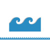 Hygloss Products Inc. HYG33602 Blue Waves Mighty Brights Border