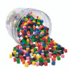 Learning Resources LER2089 Centimeter Cubes 1000-pk 10 Colors In Storage Tub