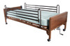 Semi Electric Hospital Bed with Full Rails and Therapeutic Support Mattress