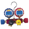4-way Refrigerant Manifold with Digital Gauges
