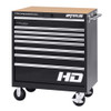 "36"" Professional HD Series 8-Drawer Cabinet in Black Finish"