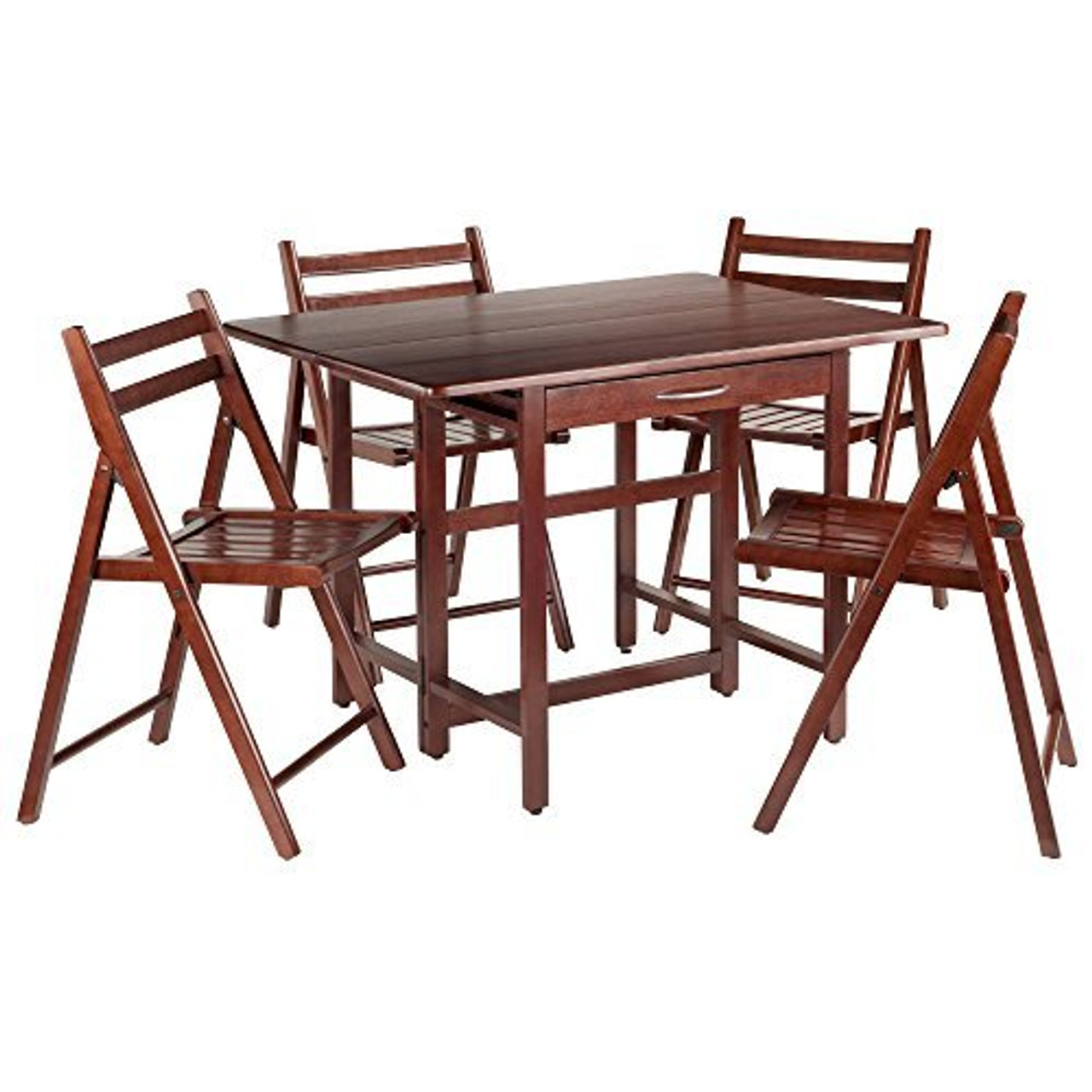 - Winsome Wood Taylor 5-Pc Set Drop Leaf Table W/ 4 Folding Chairs