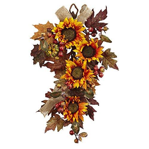"""24"""" Sunflower & Berry Teardrop"""