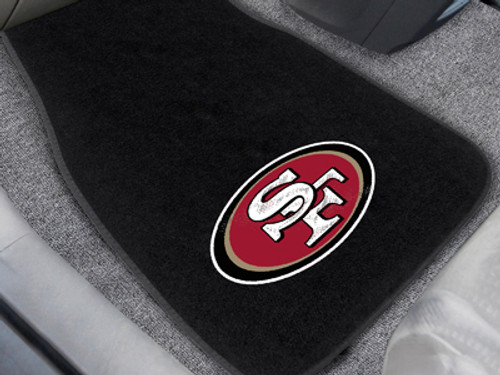 """NFL - San Francisco 49ers 2-pc Embroidered Car Mats 18""""x27"""""""
