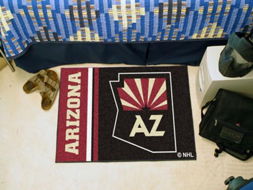 "Arizona Coyotes Uniform Starter Rug 19""x30"""