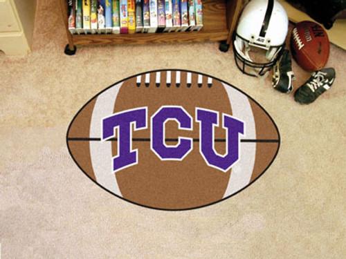 "TCU Football Rug 20.5""x32.5"""